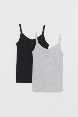 H&M 2-pack Ribbed Jersey Tank Tops