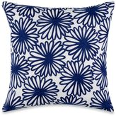 Kate Spade Charlotte Street Embroidered Floral Throw Pillow in Navy/White