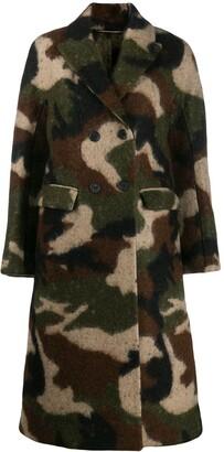 Ermanno Scervino camouflage print coat