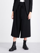 Y's Ys Wide-leg cropped wool trousers