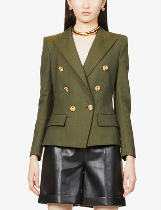 Alexandre Vauthier Double-breasted stretch-wool blazer