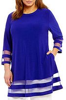 IC Collection Plus Sheer Detail A-Line Tunic