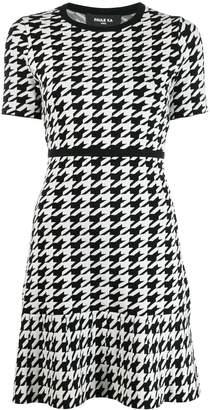 Paule Ka short houndstooth dress