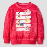 Mickey Mouse Toddler Boys' Disney® Crew Neck Sweatshirt - Red Heather