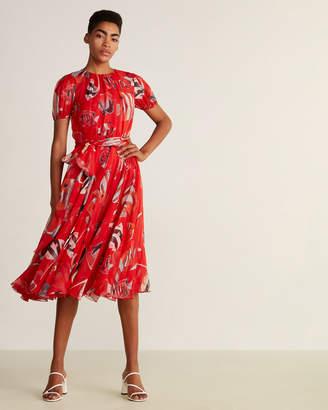 Dolce & Gabbana Two-Piece Silk Wrap Dress