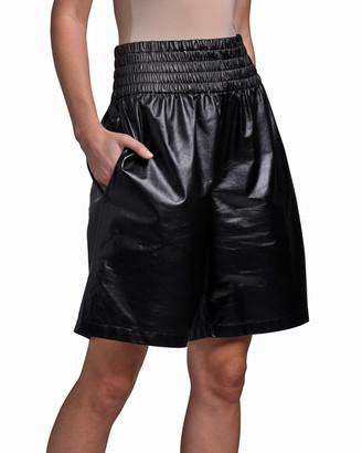 Bottega Veneta Leather Boxing Shorts