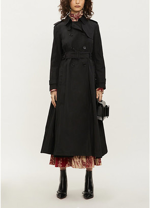 RED Valentino Belted shell trench coat