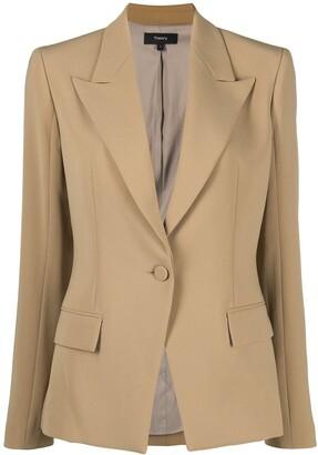 Theory Peak-Lapel Tailored Blazer