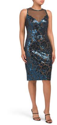 Sequin Illusion Dress