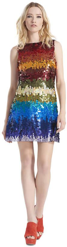 Alice + Olivia Malin Embellished Boatneck Dress