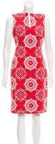 David Meister Printed Sleeveless Dress