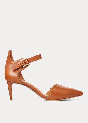 Ralph Lauren Didina Burnished Calfskin Pump