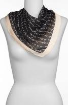 Sonia Rykiel 'Handwriting' Square Silk Scarf Womens Peggy One Size One Size