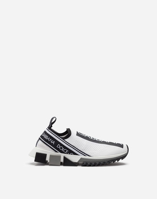 Dolce & Gabbana Stretch Jersey Sorrento Sneakers With Logo