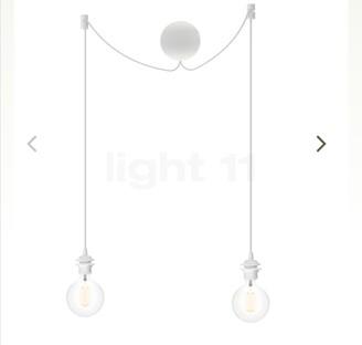 UMAGE - Set of 2 White Cannon Ball Cluster Light