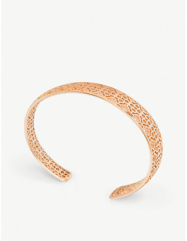 9d073bf43e694 Uma 14ct rose gold-plated filigree cuff bracelet
