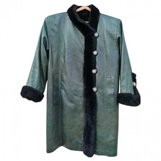 Saint Laurent Green Fur Coat for Women Vintage