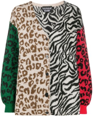Boutique Moschino Animal Print Cardigan