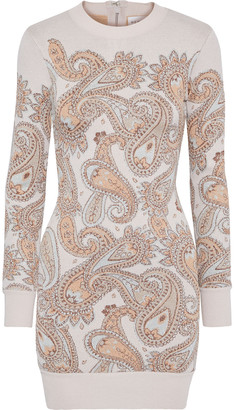 Herve Leger Metallic Jacquard-knit Mini Dress