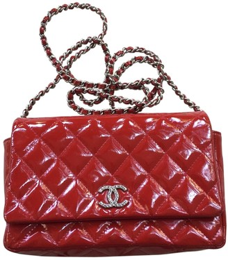 Chanel Wallet on Chain Red Patent leather Handbags