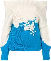 DELPOZO ribbed off-shoulders jumper - women - Polyamide/Alpaca/Merino - S