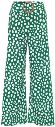 Alexandra Miro Exclusive to Mytheresa Claudia high-rise printed cotton flared pants