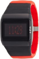 o.d.m. Unisex SDD99B-7 Link Series Black and Red Programmable Digital Watch