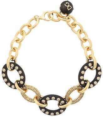 Dolce & Gabbana Crystal Embellished Chain-Link Necklace