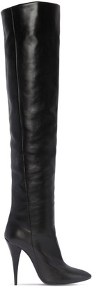 Saint Laurent 110mm Kiki Over The Knee Leather Boots