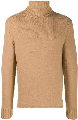 Ermenegildo Zegna chunky-knit roll-neck jumper