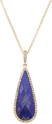 Effy Fine Jewelry 14K 6.28 Ct. Tw. Diamond & Lapis Lazuli Pendant Necklace