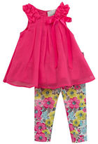 Rare Editions Baby Girls Little Girls Two-Piece Sleeveless Topand Leggings Set