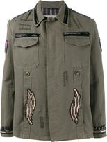Etro beaded patch embellished army jacket - men - Cotton - M