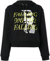 McQ by Alexander McQueen falling print hoodie - women - Cotton - XS