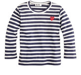 Comme des Garcons PLAY stripe heart tee