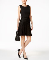 Nine West Lace Fit & Flare Dress