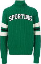 MSGM Sporting patch turtleneck jumper