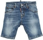 DSQUARED2 Stonewashed Stretch Denim Shorts