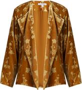 Elizabeth and James Audrey floral-print velvet jacket