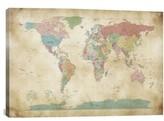 iCanvas 'World Cities Map - Michael Thompsett' Giclee Print Canvas Art