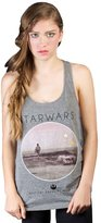 Mighty Fine Star Wars Photoreal Circle Juniors Grey Tank Top Shirt | L