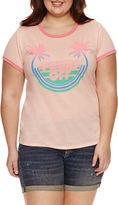 Arizona Palms Off Graphic T-Shirt- Juniors Plus