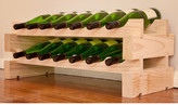 Wine Rack 14 2 Layers of 7 Bottle Width Finish: Natural Pine