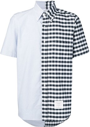 Thom Browne Bicolor Gingham Oxford Shirt