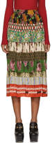Gucci Multicolor Silk Patchwork Skirt