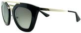 Prada Black & Gold Cat-Eye Sunglasses