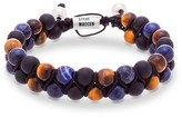 Steve Madden Men's Tiger's Eye & Lapis Bracelet