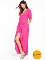 Very V Front Structured Ity Dress