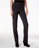 Womens Grey Straight Leg Jeans - ShopStyle