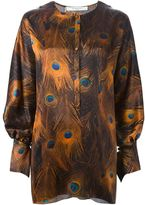 Givenchy peacock feather print blouse